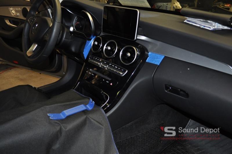 Mercedes C300 Audio Upgrade For Gainesville Client