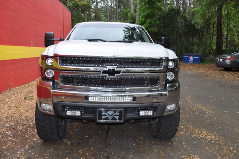 Gainesville chevy 2500 light bars installed for better visibility aloadofball Choice Image
