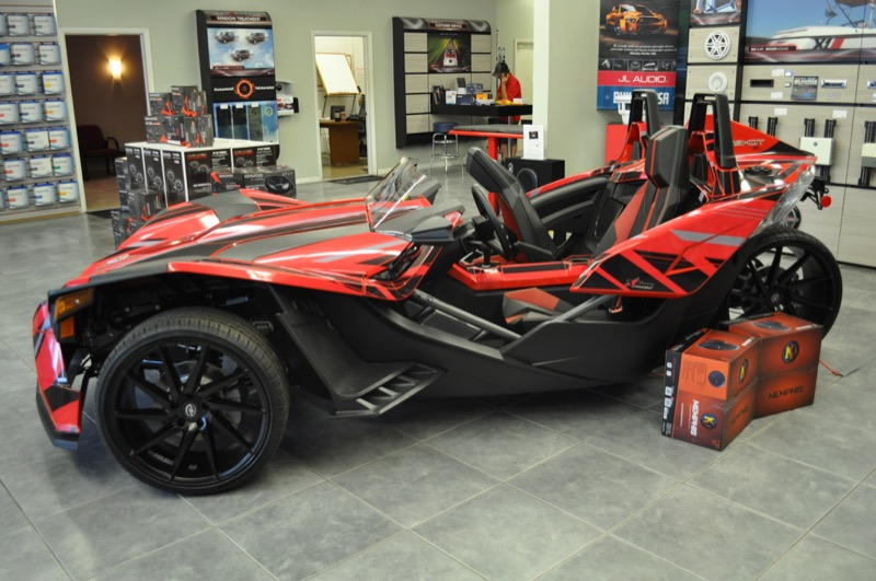 Client Comes From Jacksonville For Polaris Slingshot Upgrades