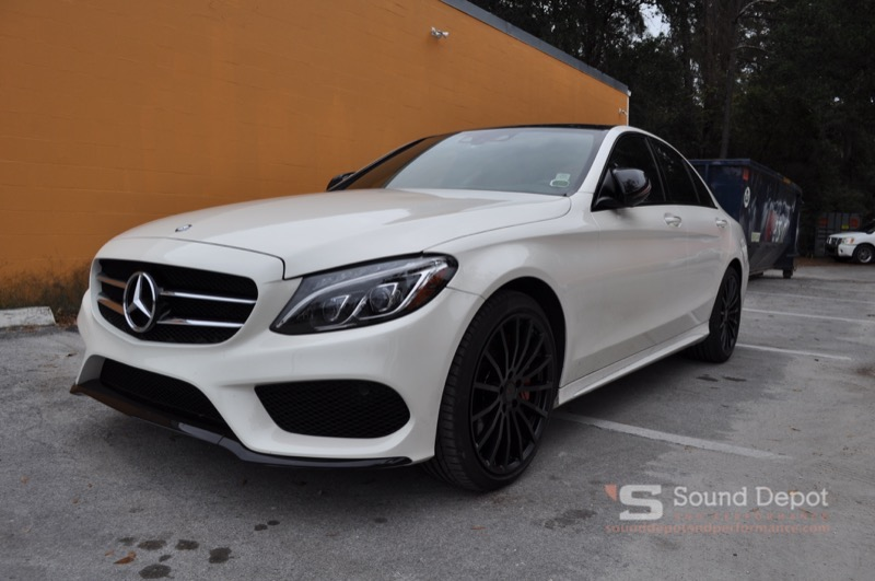 Mercedes-Benz C300 Audio And Cosmetic Upgrades For Ocala Client