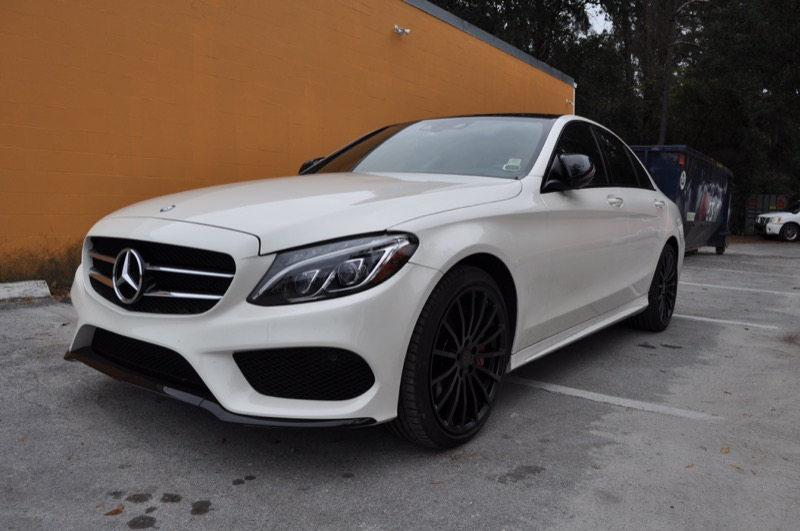 Mercedes benz c300 audio and cosmetic upgrades for ocala for Mercedes benz window tint