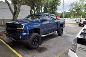 Gainesville Client Upgrades Chevy Silverado Stereo System with a Subwoofer